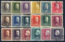 BOSNIA & HERZEGOVINA 1916 Franz Joseph Definitive Set Used.  Michel 99-116 - Bosnia And Herzegovina