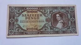 UNGHERIA 100000 PENGO 1945 - Ungheria