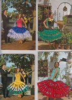 Lot  4 Carte Brodé Espana - Ricamate