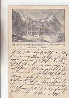 Grindelwald - Hotel Grosse Scheidek - Vorläufer - 1896 !     (P-112-61107) - BE Berne