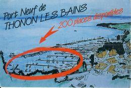 Port Neuf De Thonon Les Bains  200 Places Disponibles Pub  Cpsm Format 10-15 - Publicité