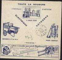 Enveloppe Illustrée Toute La Soudure Neptune électricité Autogène Recommandé Affranchissement Mixte Vignette - Postmark Collection (Covers)