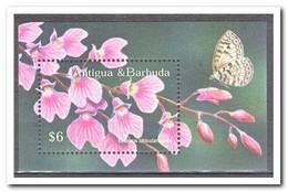 Antigua & Barbuda 2002, Postfris MNH, Flowers, Butterflies - Antigua En Barbuda (1981-...)