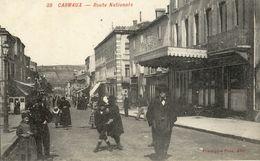 Cpa-Carmaux(81)-route Nationale(animée) - Carmaux