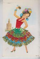 Brodé Brodèe Ricamate Embroidered Costumi Folklore Spain Spagna Cartel De Toros - Borduurwerk