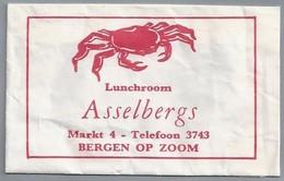 Suikerzakje.- Bergen Op Zoom. Lunchroom - Asselbergs - Markt 4. Krab. - Sugars