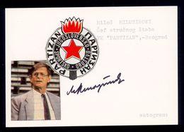 Milos Milutinovic - Original Authographs - Footballer And Manager - FK Partizan / 2 Scans - Autogramme