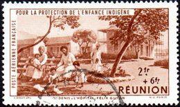Détail De La Série Protection De L Enfance Indigène & Quinzaine Obl. Réunion N° PA 8  - Hopital - Enfants - 1942 Protection De L'Enfance Indigène & Quinzaine Impériale (PEIQI)