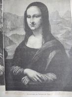 La Joconde , De Léonard De Vinci , Gravure Sur Bois , Circa 1860 - Stiche & Gravuren