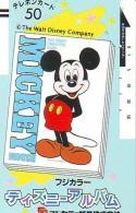 Télécarte Ancienne Japon DISNEY / 110-20011- Japan Front Bar Phonecard (5983) Balken Telefonkarte - Disney