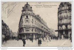 Orléans Les Deux Rotondes Rue De La Republique Cpa Bon état - Orleans