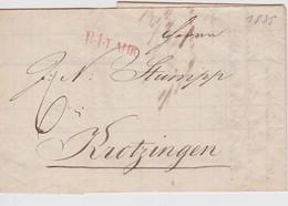 ALLEMAGNE 1835 LETTRE DE LAHR - Germania