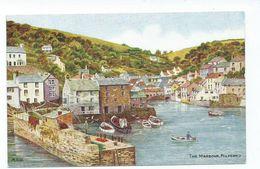 Postcard Cornwall Salmon Artist Signed A.r.quinton. Unused Theharbour Polperro 3747 - Sonstige
