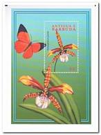 Antigua & Barbuda 2000, Postfris MNH, Flowers, Butterflies - Antigua En Barbuda (1981-...)