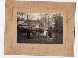 Photo Ancienne Collée Sur Carton D'une Bourrée Auvergnate , Bourrée Auvergne Folklore - Photos