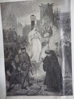 La Mort De Jeanne D'Arc Par Achille Devéria  , Musée D'Angers , Gravure Sur Bois De Huyot , Circa 1860 - Estampes & Gravures