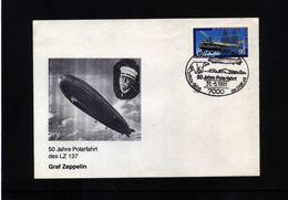 Germany 1981 Zeppelin Interesting Cover - Zeppelines