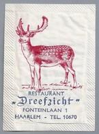 Suikerzakje.- Haarlem. Restaurant - Dreefzicht -. Fonteinlaan 1. - Suiker