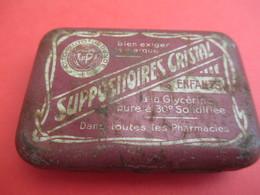 Boite Métallique Ancienne/Suppositoires Cristal/Glycérine / Enfants/Coopération Pharmaceutique FR/Vers 1930-1950 BFPP160 - Boxes
