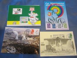 5 CARTES MAXIMUM : GARDANNE PAVILLON DE CHASSE,CHARBON EXPLOITATION DE PROVENCE,MARIANNE DES Français (X2),BABAR - Documenti Della Posta
