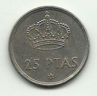 1975 - Spagna 25 Pesetas (80), - [ 5] 1949-… : Regno