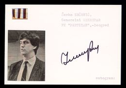Zarko Zecevic - Original Authographs - Football Administrator - FK Partizan / 2 Scans - Autogramme