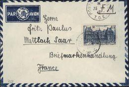 Légionnaire Français Allemand Indochine SP 70776 BCM C Surtaxe Aérienne YT 760 Seul Sur Lettre - Indochina (1889-1945)
