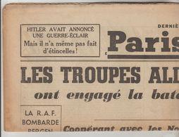 JOURNAL QUOTIDIEN PARIS-SOIR 4 PAGES RECTO VERSO N°6062 MARDI 23 AVRIL 1940 2° GUERRE MONDIALE - Giornali