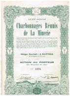 Action Ancienne - Sté Anonyme Des Charbonnages Réunis De La Minerie - - Mines