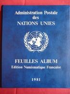 Album De L'Administration Postale Des Nations Unies - Novembre 1980 à Mars 1981 - Stamps