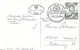 YT 1039 (o) - Wiener Volksprater - Sur CPA - Machine Stamps (ATM)