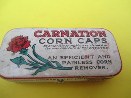 Boite Métallique Ancienne/Carnation/Corn Caps/Pour Supprimer Les Cors Au Pied/Vers 1980-1990 BFPP180 - Boîtes