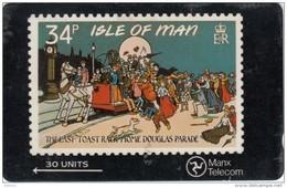 ISLE OF MAN(GPT) - IOM Stamps 4/Toast Rack, CN : 6IOMD, Tirage 15000, Used - Isle Of Man