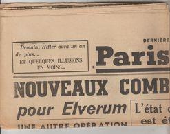 JOURNAL QUOTIDIEN PARIS-SOIR 6 PAGES RECTO VERSO N°6059 SAMEDI 20 AVRIL 1940 2° GUERRE MONDIALE - Giornali