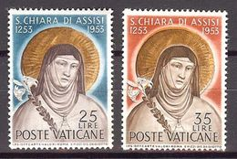 1953 - VATICAN - Scott #169-170 - MNH VF ** - Vatican