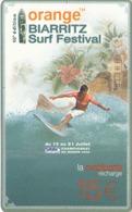 TELECARTE MOBICARTE ORANGE BIARRITZ SURF FESTIVAL 07 / 2002 - Frankreich