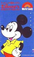 Télécarte Japon 110-011 DISNEY  (5991) MICKEY MOUSE  * PHONECARD JAPAN * TELEFONKARTE * DISNEY'S WORLD OF ENGLISH - Disney