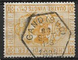 Spoorweg / Chemins De Fer  TR 5  80 Cent. GAND SUD  1884  Geen / Pas / Maar Gomresten Van Het Pakketje - Used