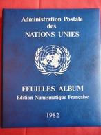 Album De L'Administration Postale Des Nations Unies - Mars 1982 à Janvier 1983 - Stamps