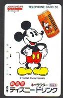 Télécarte Japon *  110-39412 - DISNEY - MICKEY / Boisson Kikkoman Jus D'orange  (5992)  Japan Phonecard Telefonkarte - Disney