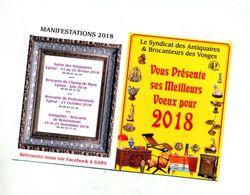 Calendrier 2018 Syndicat Antiquaire Vosges - Petit Format : 2001-...