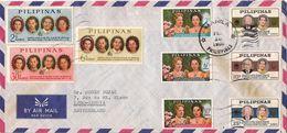 MARCOPHILIE LETTRE PAR AVION PHILIPPINES MANILA TP NO 620 621 622 623 625 611 6 12 ET 613 YT - Filipinas