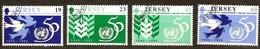 Jersey 1995 Yvertn°  717-720  (°) Oblitéré Used Cote 7,00 Euro Nations  Unis - Jersey