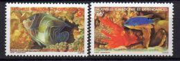 NOUVELLE-CALEDONIE ( POSTE ) : Y&T N°  551/552  TIMBRES  NEUFS  SANS  TRACE  DE  CHARNIERE , A  VOIR . - Nouvelle-Calédonie