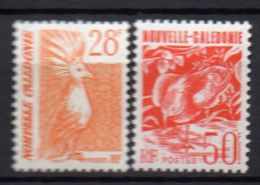 NOUVELLE-CALEDONIE ( POSTE ) : Y&T N°  587/588  TIMBRES  NEUFS  SANS  TRACE  DE  CHARNIERE , A  VOIR . - New Caledonia