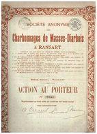Action Ancienne - Sté Anonyme Des Charbonnages De  Masses-Diarbois à Ransart - Titre De 1927 - Mines