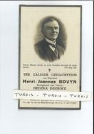 HENRI J BOVYN ECHTG HELENA DECROIX ° LOO ( LO-RENINGE LO ) 1865 + 1929 - Images Religieuses