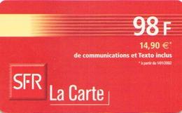 MOBICARTE SFR LA CARTE 12/02 - France