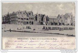 Middelkerke La Digue Avec Le Grand Hotel Des Bains Cpa Bon état - Middelkerke