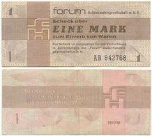 DDR 1979, 1 Mark, Forumscheck, Aussenhandelsgesellschaft, Geldschein, Banknote - [14] Forum-Aussenhandelsgesellschaft MBH
